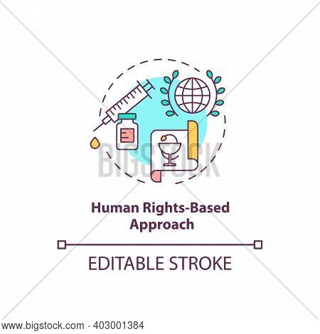 Human Rights Based Approach Concept Icon. Health Programs Principles. Laws Garant You Medical Help.