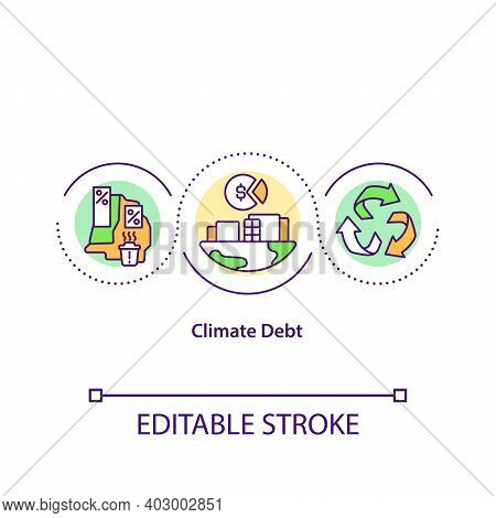 Climate Dept Concept Icon. Industrial Production Harm Idea Thin Line Illustration. Preserving Enviro