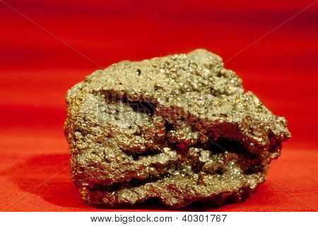 Pyrite Ironsulfide Fools Gold Mineral Crystal Rock