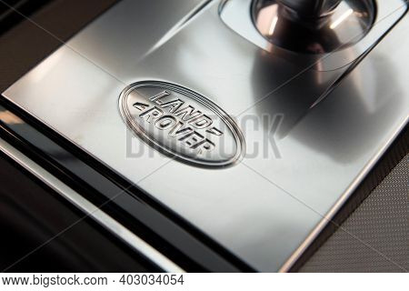 Rostov-on-don, Russia - Circa October 2019: Land Rover Logo In Discovery Sport