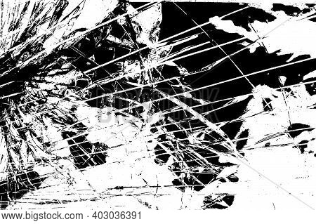 Broken Glass Overlay Texture For Your Design. Eps10 Vector.