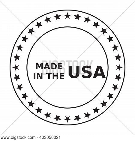 Made In Usa Icon Isolated On White Background From United States Of America Collection. Made In Usa