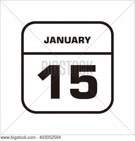 Calendar icon 15 isolated on white Background, Calendar icon vector flat modern, calendar Icon, calendar Icon Eps10, calendar Icon Vector, calendar Icon Eps, calendar Icon Jpg, calendar 15 january, calendar icon illustration eps 10
