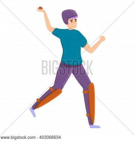 Cricket Holiday Match Icon. Cartoon Of Cricket Holiday Match Vector Icon For Web Design Isolated On