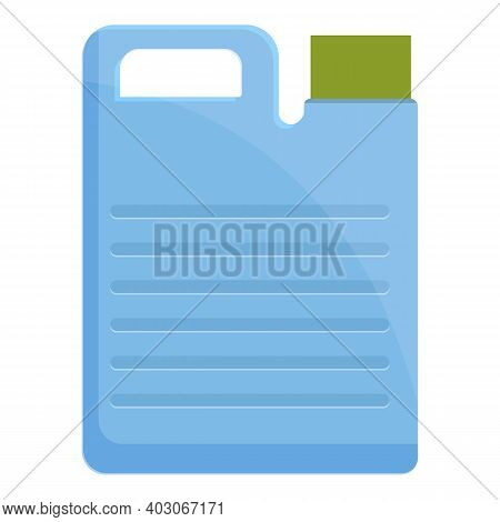 Biodegradable Plastic Canister Icon. Cartoon Of Biodegradable Plastic Canister Vector Icon For Web D