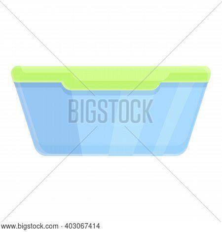 Biodegradable Plastic Food Box Icon. Cartoon Of Biodegradable Plastic Food Box Vector Icon For Web D