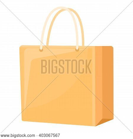 Biodegradable Plastic Home Bag Icon. Cartoon Of Biodegradable Plastic Home Bag Vector Icon For Web D