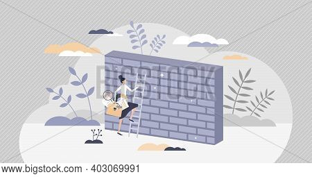 Overcoming Obstacles Or Problem With Business Persistence Tiny Person Concept