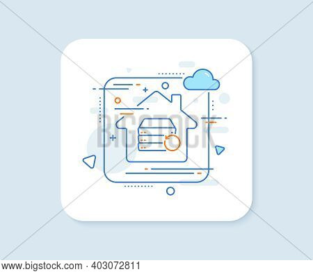 Recovery Server Line Icon. Abstract Vector Button. Backup Data Sign. Restore Information Symbol. Rec