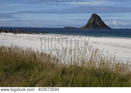 Vesteralen Islands / Norway - August 31, 2017: The Hat Of Troll Beach, Vesteralen, Vesterålen, Nordl