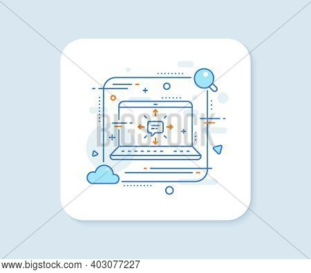 Conversation Line Icon. Abstract Vector Button. Chat Messages Or Sms Sign. Communication Symbol. Sms