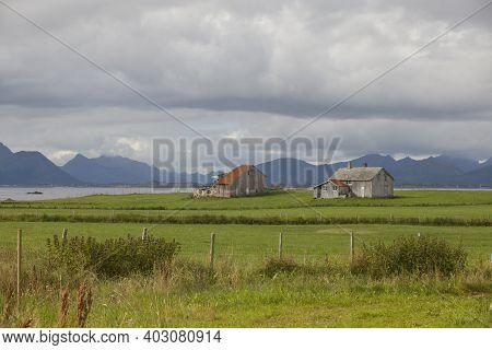 Vesteralen Islands / Norway - August 31, 2017: Vesteralen Landscape, Vesterålen, Nordland, Norway, S