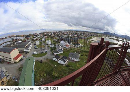 Vesteralen Islands / Norway - August 31, 2017: The Landscape From Andenes Lighthouse, Vesteralen, Ve