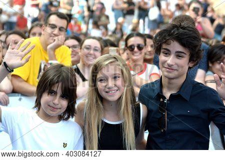 Giffoni Valle Piana, Sa, Italy - July 21, 2019 : Cast Tv Series :