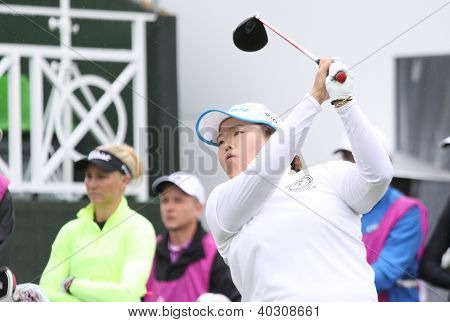 Sun Ju Ahn (KOR) at The Evian Masters golf tournament 2011