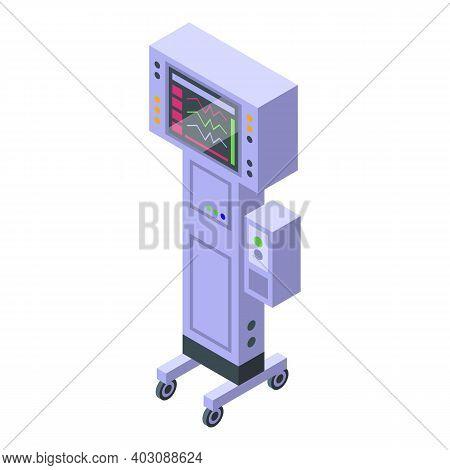 Breath Ventilator Icon. Isometric Of Breath Ventilator Vector Icon For Web Design Isolated On White