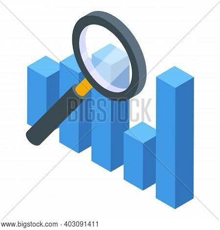 Evolution Magnifying Icon. Isometric Of Evolution Magnifying Vector Icon For Web Design Isolated On