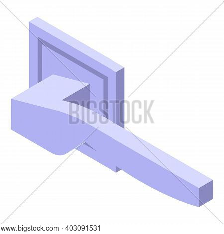 Door Knob Icon. Isometric Of Door Knob Vector Icon For Web Design Isolated On White Background