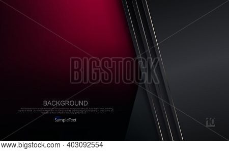 Dark Background In Burgundy And Gray Shades With A Gradient, Gray Curtains With A Thin Shiny Edging
