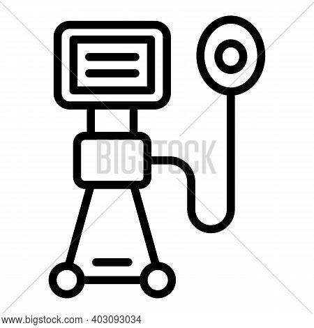 Air Ventilator Medical Machine Icon. Outline Air Ventilator Medical Machine Vector Icon For Web Desi