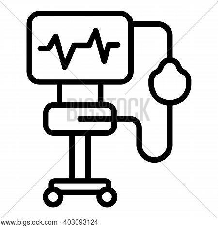Virus Ventilator Medical Machine Icon. Outline Virus Ventilator Medical Machine Vector Icon For Web