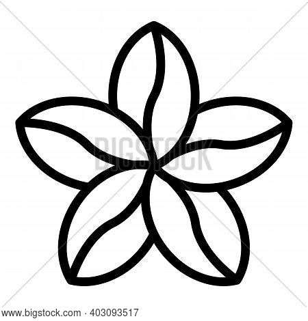 Plumeria Bunch Icon. Outline Plumeria Bunch Vector Icon For Web Design Isolated On White Background