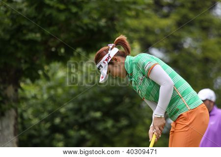 Yoon Seul a  (KOR) at The Evian Masters golf tournament 2011