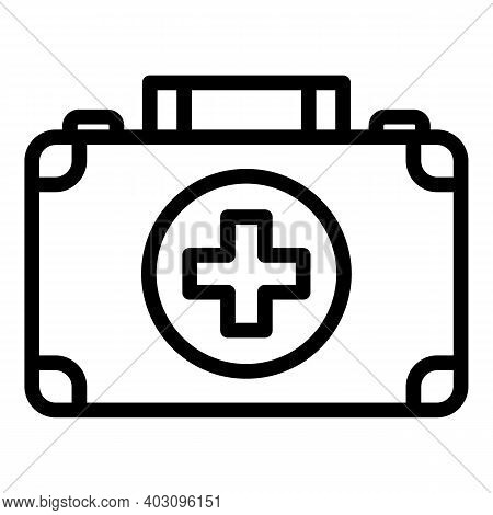 Case First Aid Kit Icon. Outline Case First Aid Kit Vector Icon For Web Design Isolated On White Bac