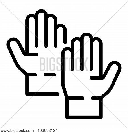 Dentist Medical Gloves Icon. Outline Dentist Medical Gloves Vector Icon For Web Design Isolated On W