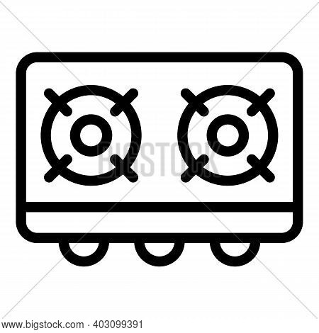 Danger Gas Stove Icon. Outline Danger Gas Stove Vector Icon For Web Design Isolated On White Backgro