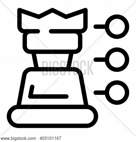 Business Collaboration Chess Icon. Outline Business Collaboration Chess Vector Icon For Web Design I