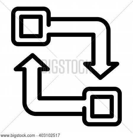 Sustainable Development Icon. Outline Sustainable Development Vector Icon For Web Design Isolated On