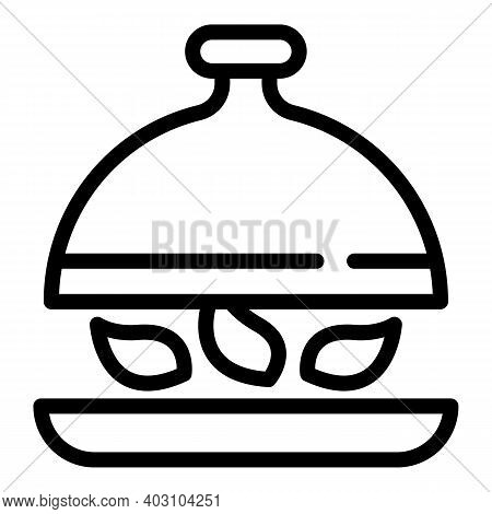 Restaurant Meal Icon. Outline Restaurant Meal Vector Icon For Web Design Isolated On White Backgroun