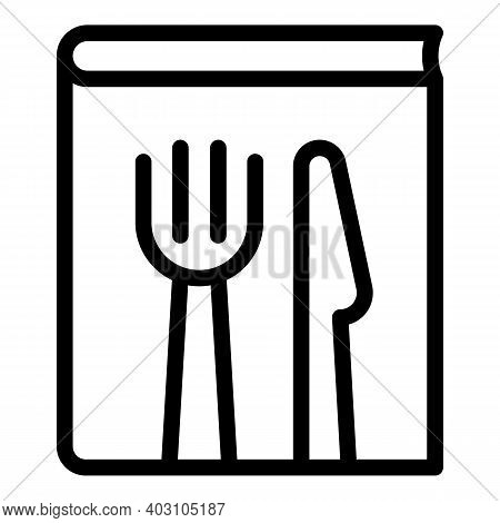 Restaurant Cutlery Icon. Outline Restaurant Cutlery Vector Icon For Web Design Isolated On White Bac