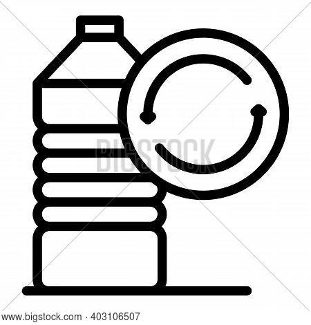 Reusable Bottle Icon. Outline Reusable Bottle Vector Icon For Web Design Isolated On White Backgroun