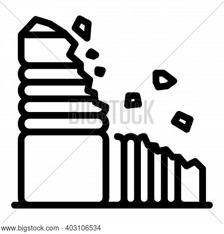 Compostable Plastic Icon. Outline Compostable Plastic Vector Icon For Web Design Isolated On White B