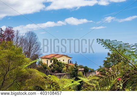 View To A House In Funchal On The Island Madeira, Portugal.
