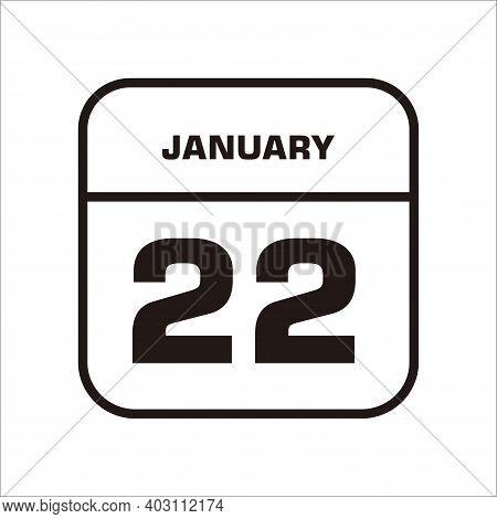Calendar Icon 22 Isolated On White Background, Calendar Icon Vector Flat Modern, Calendar Icon, Cale