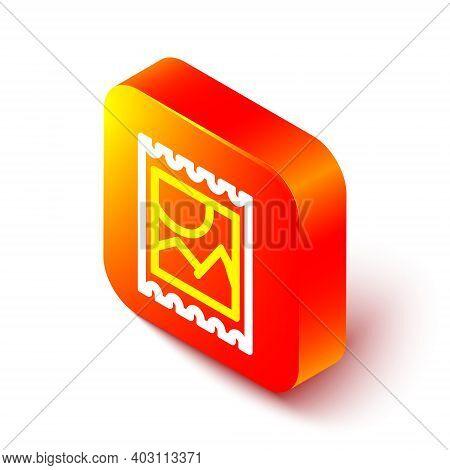 Isometric Line Lsd Acid Mark Icon Isolated On White Background. Acid Narcotic. Postmark. Postage Sta