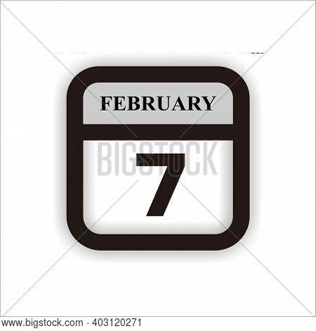 Calendar Icon 7 Isolated On White Background, Calendar Icon Vector Flat Modern, Calendar Icon, Calen