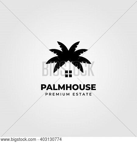 Palm House Creative Logo Clever Vector Minimalist Illustration Design