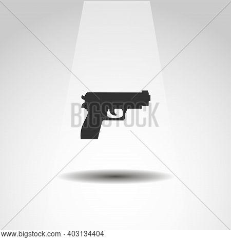 Pistol Isolated Vector Pistol Isolated Gun Icon