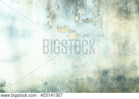 The Cement Wall Background Abstract Old Green Concrete Texture For Interior Design. White Grunge Cem