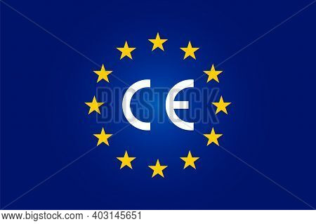 Ce Standard Mark. Icon For Products Sold Within The European Economic Area - Eea. Europe Union Color