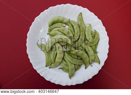 Hyacinth Beans Known As Indian Papdi Or Valor Beans Used In Making Mix Veg Gujarati Cuisne Undhiyu.