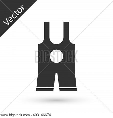 Grey Wrestling Singlet Icon Isolated On White Background. Wrestling Tricot. Vector