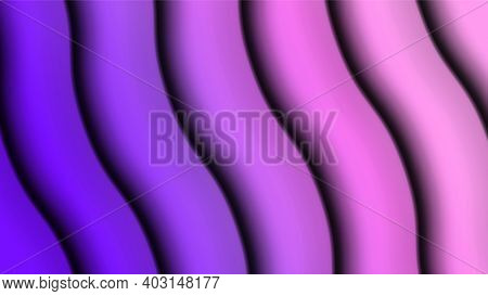 Vector Lilac Gradient Wave Background In Paper Cut Style