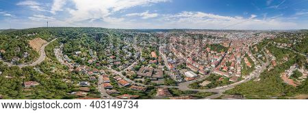 360 Spherical Panorama View Of Stuttgart Suburb Near Hills In Germany At Summer Noon
