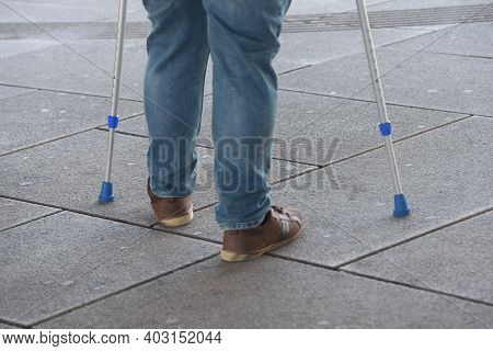 Crutches As A Walking Aid
