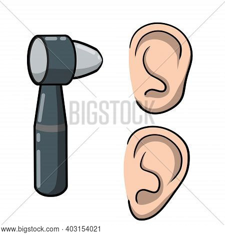 Otoscope. Disease Of The Ear. Tool For Examining The Auricle. Doctor Visit. Medical Care. Hearing Pr